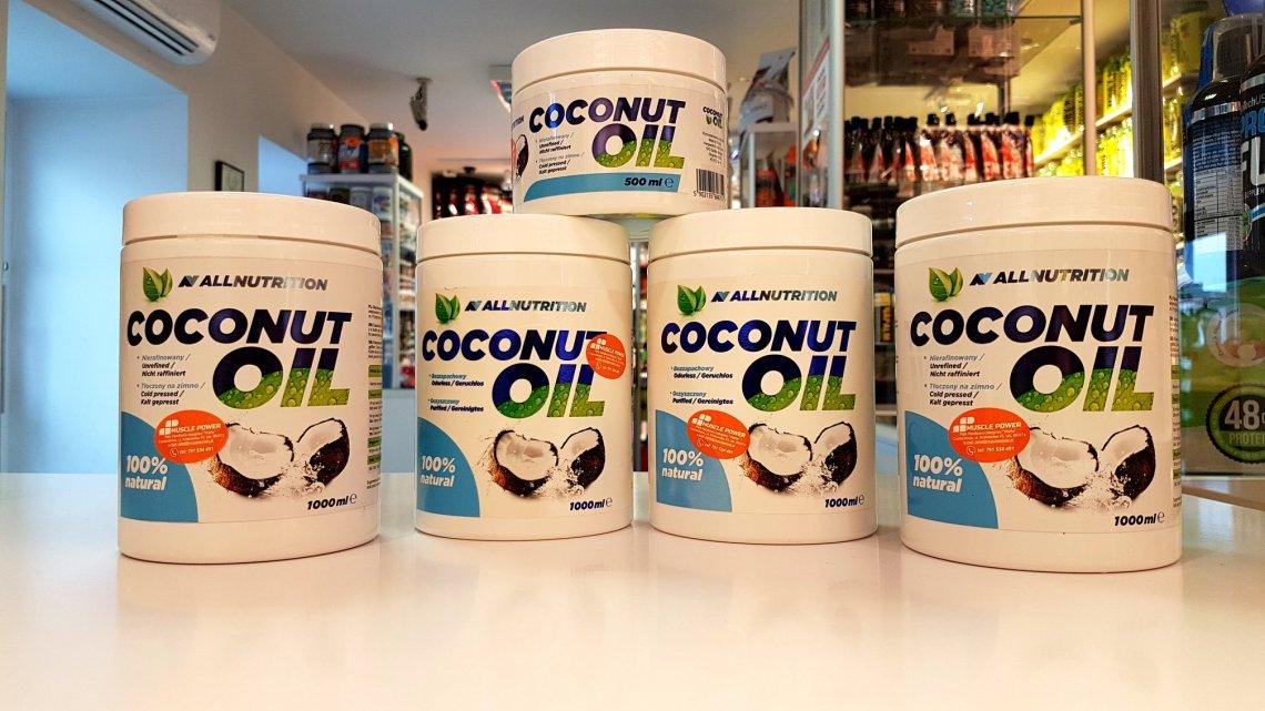 Coconut Oil - All Nutrition Muscle Power Częstochowa sklep z suplementami i zdrową żywnością