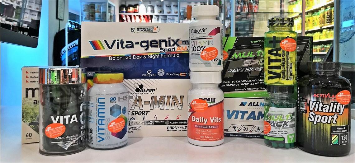 Podstawowe kompleksy witamin i minerałów- Trec, Olimp, Iron Horse Series, Biogenix, Ostrovit, ActivLab, Now Foods, Fitness Authority