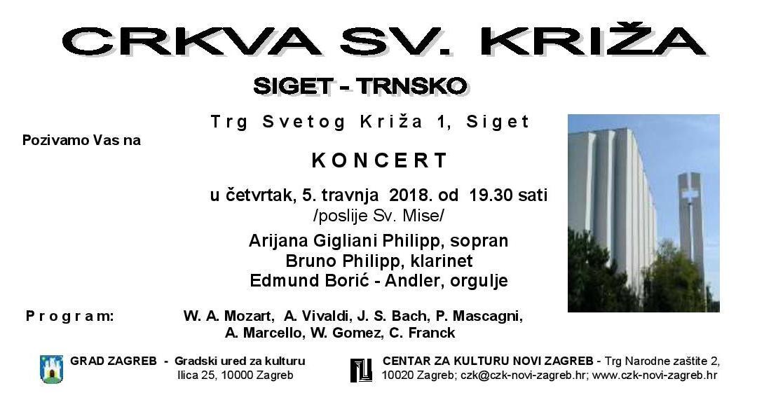 Koncert- Crkva Sv.Križa Siget -Trnsko