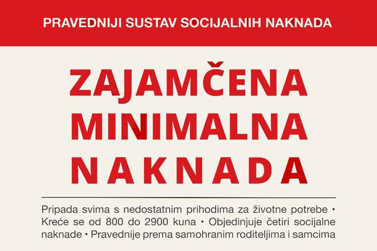 zajamčena minimalna naknada kreće se od 800 do 2900 kuna