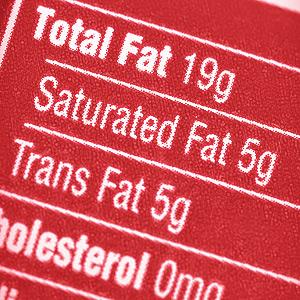 food transfat label