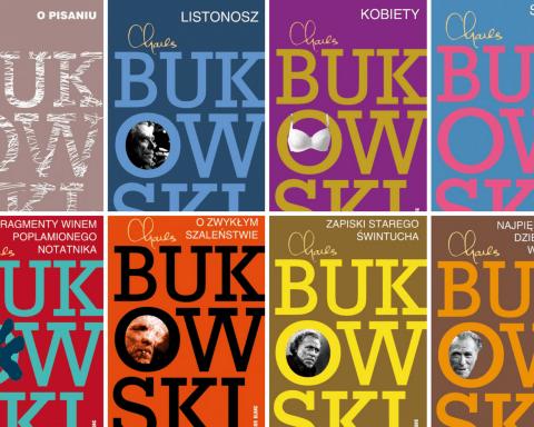 okładki książek Bukowskiego