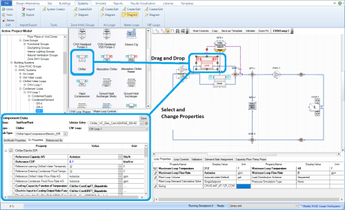 small resolution of then the user can utilize the diagramming canvas features to connect the component shape into the zone hvac group or loop diagram