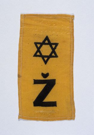 Brassard à l'étoile jaune, porté en Croatie.
