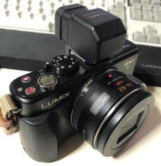 【カメラ】いまさらながら、Lumix GX1のライブビューファインダー「DMW-LVF2」を購入