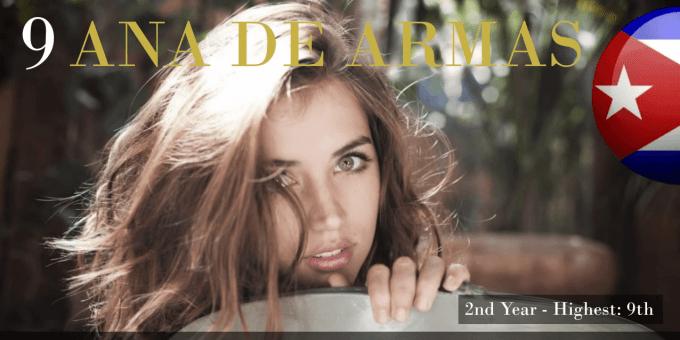 アナ・デ・アルマス 世界で最も美しい顔100人