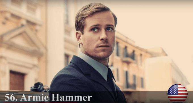 アーミー・ハマー 世界で最もハンサムな顔100人