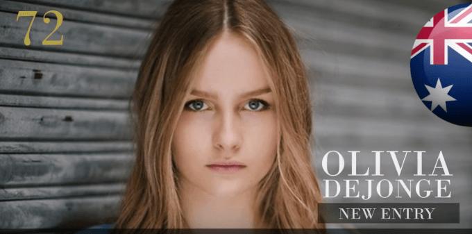 オリビア・デジョンジ 世界で最も美しい顔100人