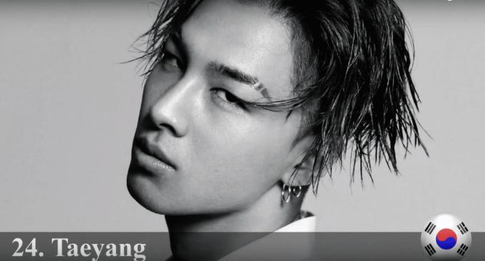 ソル Taeyang 2015年世界で最もハンサムな顔100人