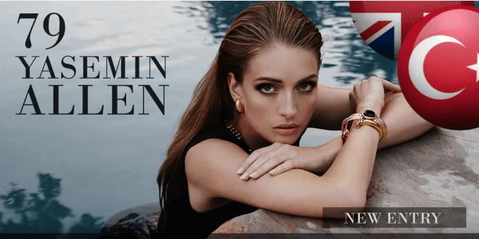 ヤセミン・アレン 世界で最も美しい顔100人