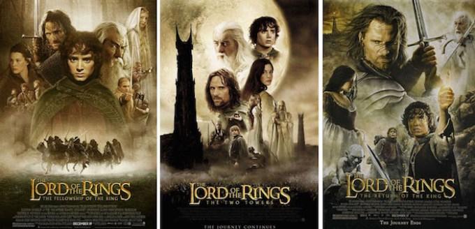 ロード・オブ・ザ・リングの続編映画を時系列順で並べた画像