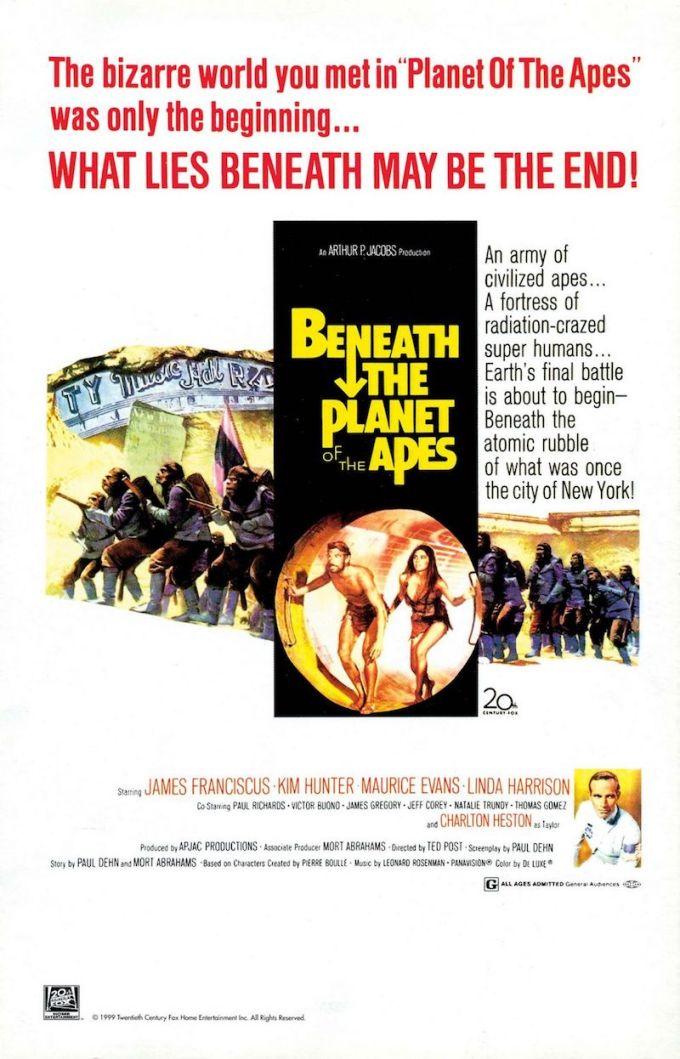 映画『続・猿の惑星』の登場人物と画像