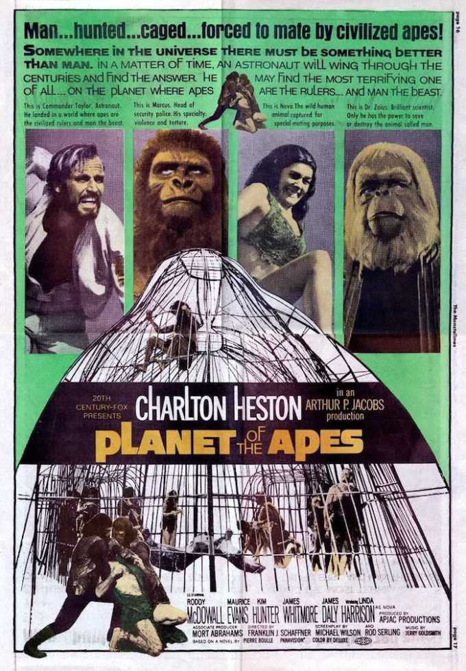 映画『猿の惑星』の登場人物と画像