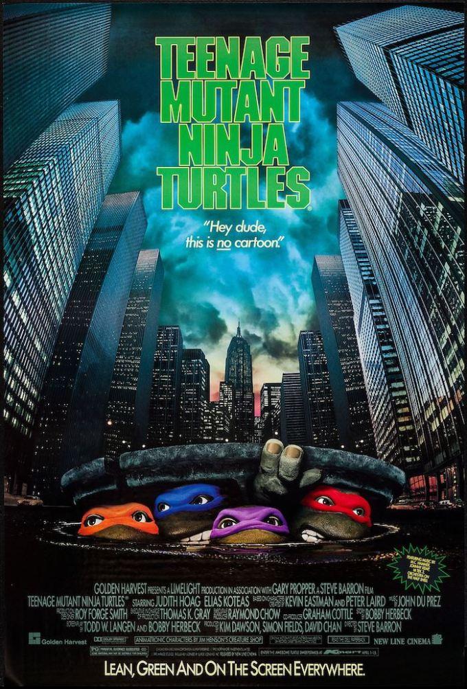 映画『ミュータント・タートルズ』(1990年)の登場人物と画像