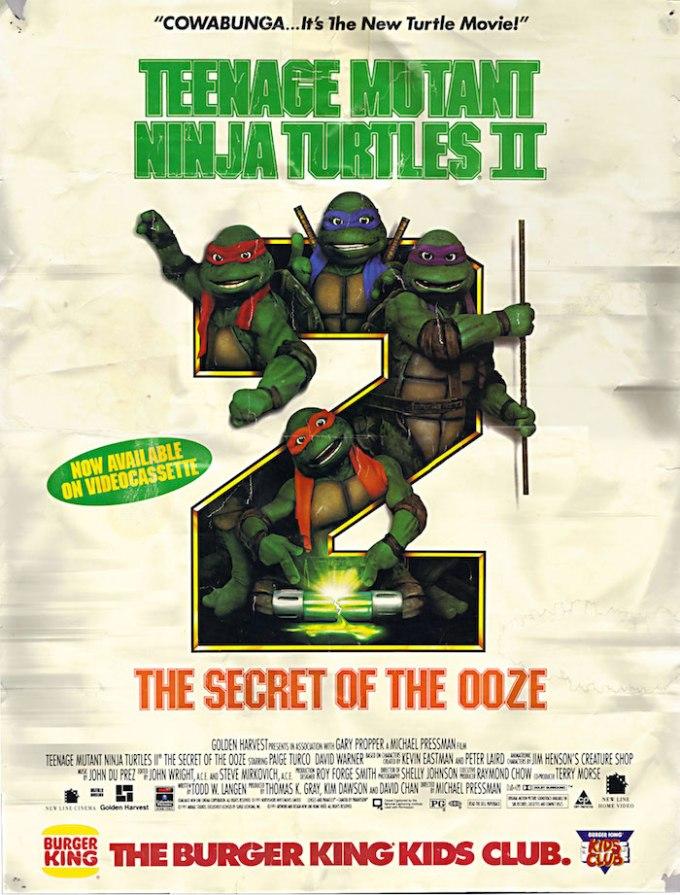 映画『ミュータント・ニンジャ・タートルズ2』(1991年)の登場人物と画像