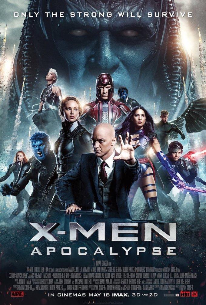 マーベル映画『X-MEN: アポカリプス』の登場人物とポスター画像