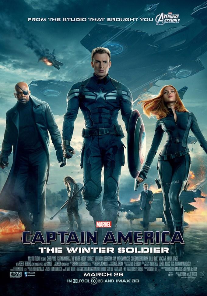 映画『キャプテン・アメリカ/ウィンター・ソルジャー』のポスター画像