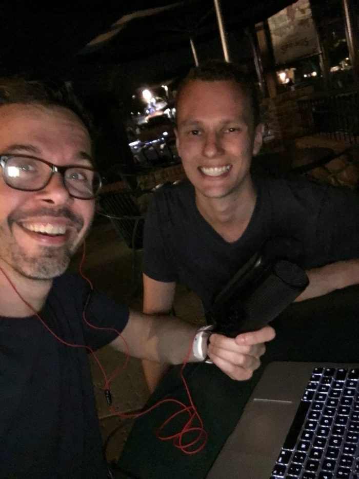 Michiel en Jorn in Disney Springs
