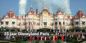 Vuurwerk boven het Disneyland Hotel tijdens de openingsceremonie van het nieuwe Europese resort