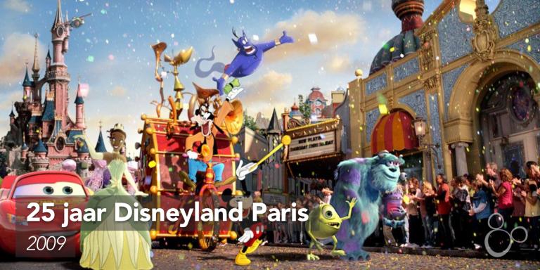 De nieuwe generatie Disney-personage loopt in optocht door Main Street USA
