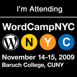 I am attending WordCampNYC 2009