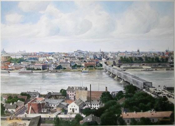 Widok na lewobrzeżną Warszawę