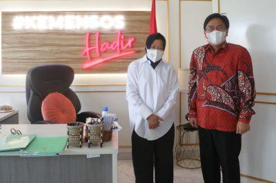 Mensos Risma bersama Burhanuddin Muhtadi Direktur Eksekutif Indikator Politik Indonesia