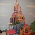 disney princess castle fat head wall mural bedroom