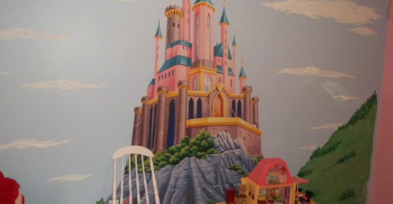 disney princess castle fat head wall mural bedroom