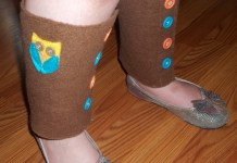 Owl Leg Warmers for Kids