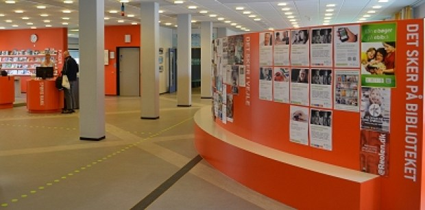 spændende biblioteksrum fra D-sign Tegnestuen og design tegnestuen