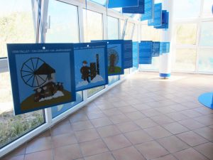 'Vores Vind' udstilling i Hvide Sande #udstillingsdesign#formidling#udstilling#udstillingsarkitekt#udstillingsplancher#designer#arkitektur#arkitektur #designtegnestue #designtegnestuen #vattenfall #MHIVestas #Energinet #Naturkraft #A2sea