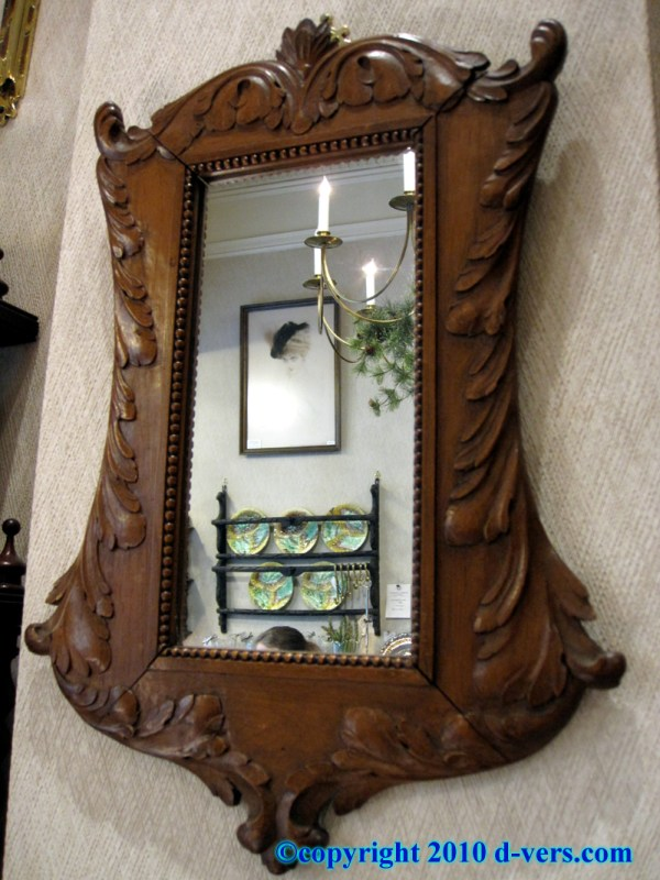 Antique Wooden Hand Mirror Design Carved Wood Mirrors