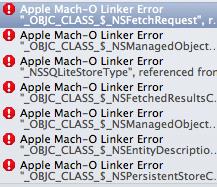 Apple Mach-O Linker Errorの一覧