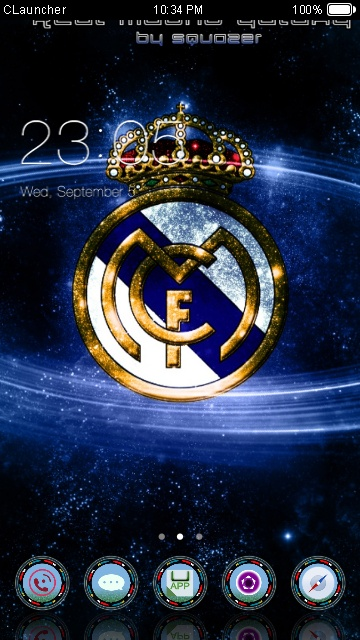 Real Madrid Launcher : madrid, launcher, Madrid, Galaxy, Android, Theme, Launcher