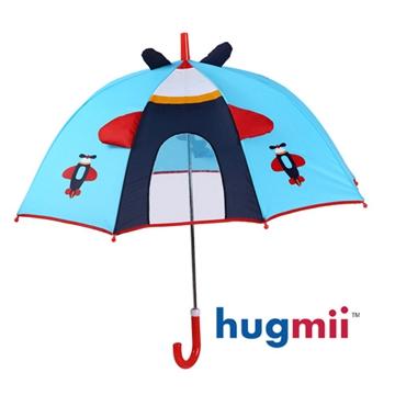 【hugmii】童趣造型手動式安全雨傘兒童雨傘_飛機 - PChome 24h購物