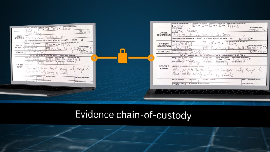 Managing Digital Evidence with IBM. Blockchain.