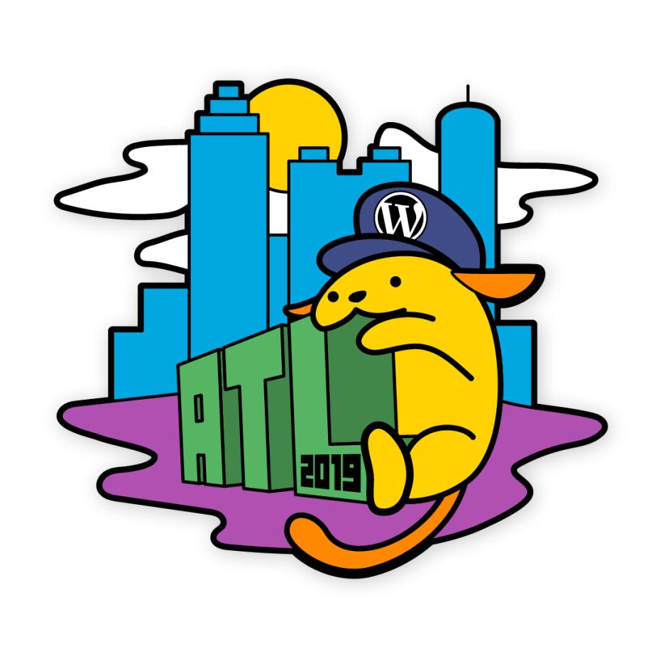 Wapuu Design for WordCamp Atlanta 2019