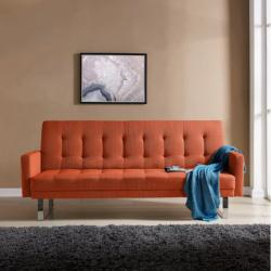 overstock sofa sleeper mattress up to 15 off sofas couches extrabux handy living springfield orange linen click clack futon bed