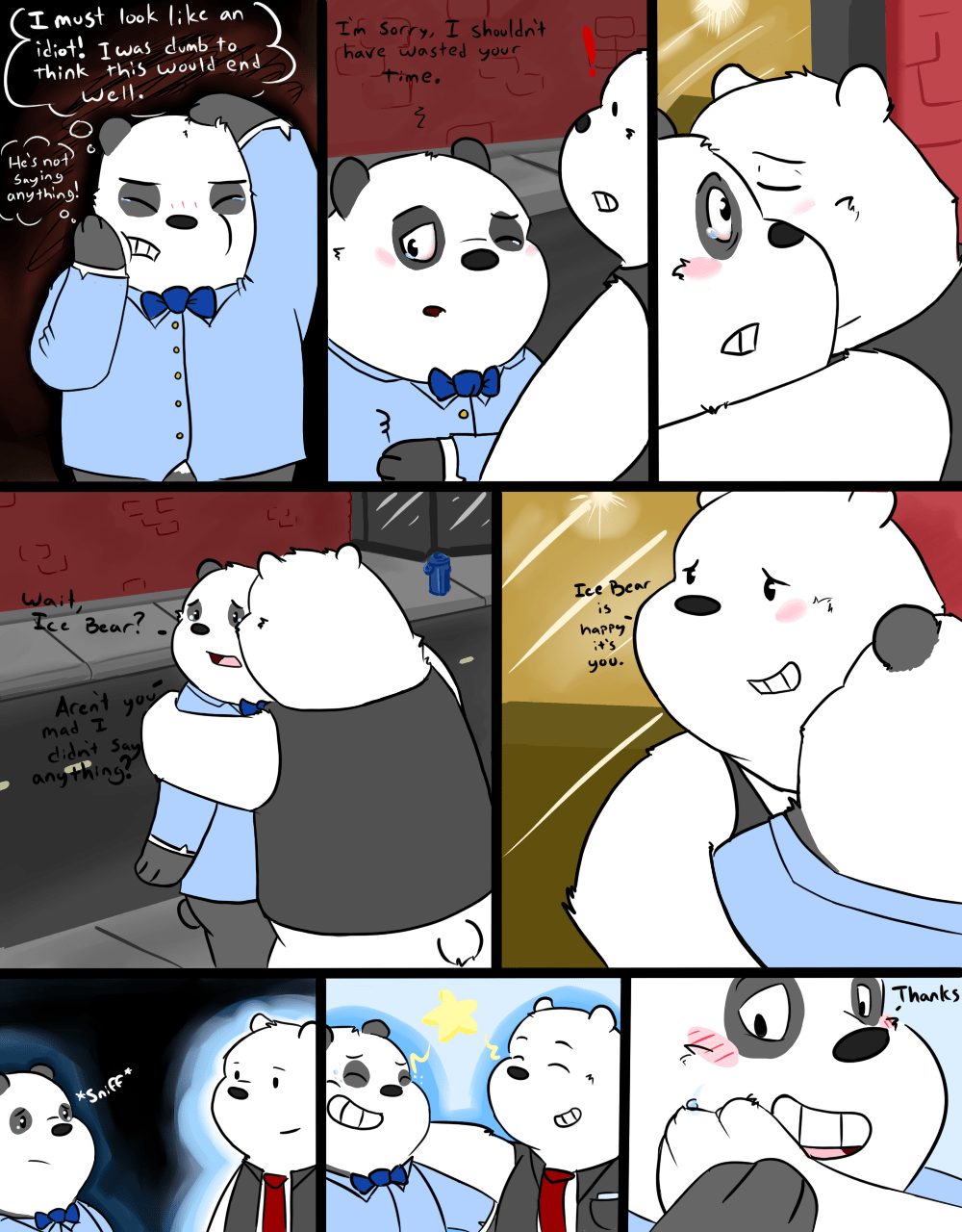 Pan Comic Panda Polar Bear And