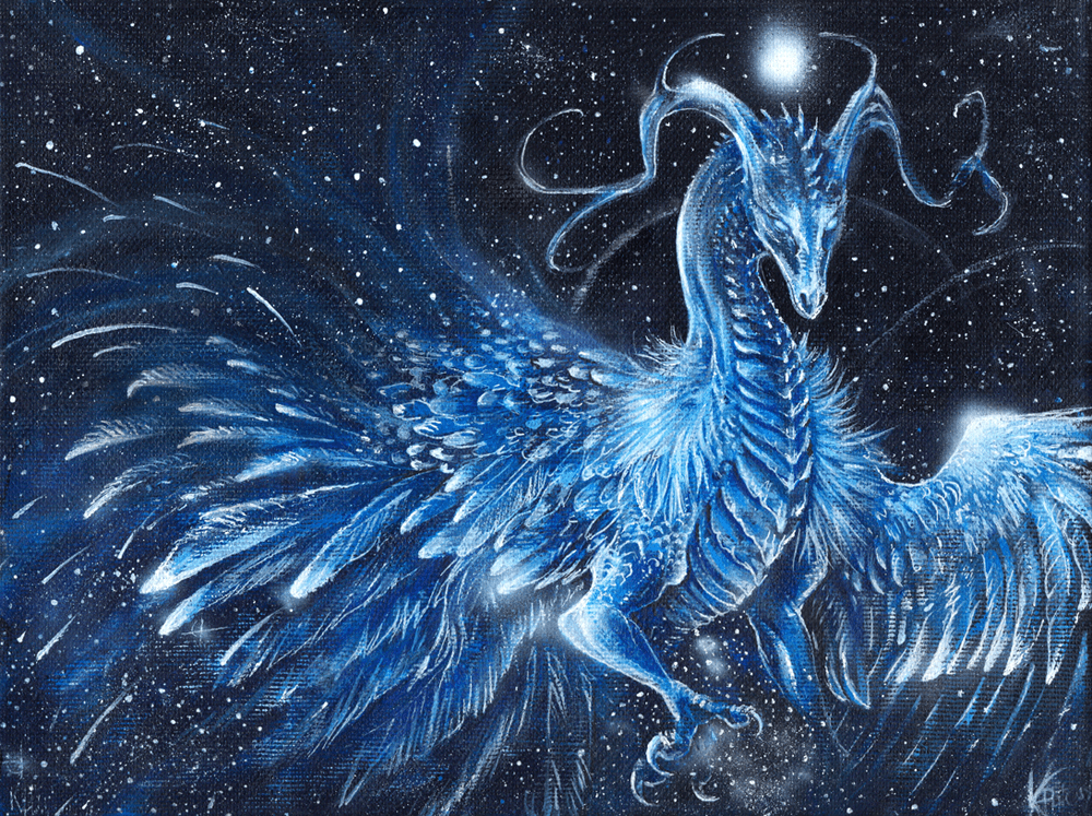 twinkling ice dragon by