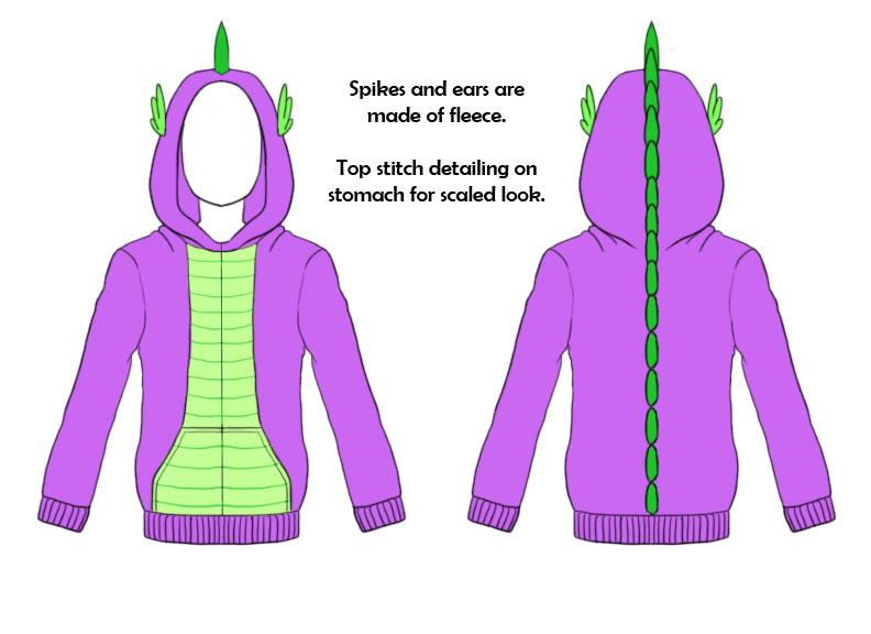 mlp fim hoodie spike