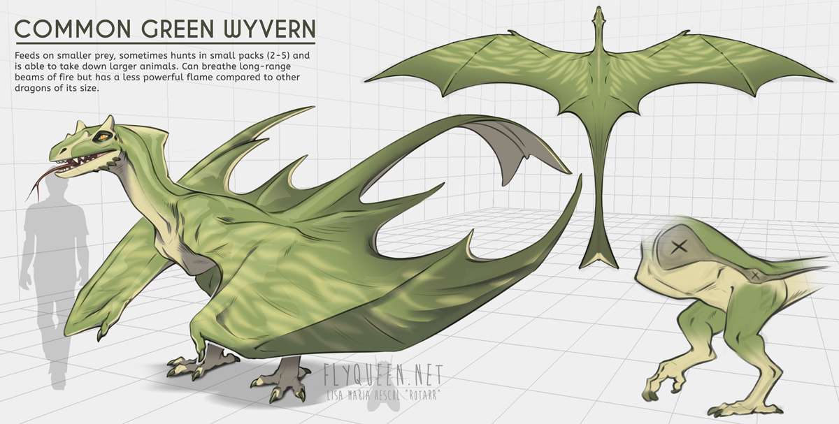 common green wyvern by