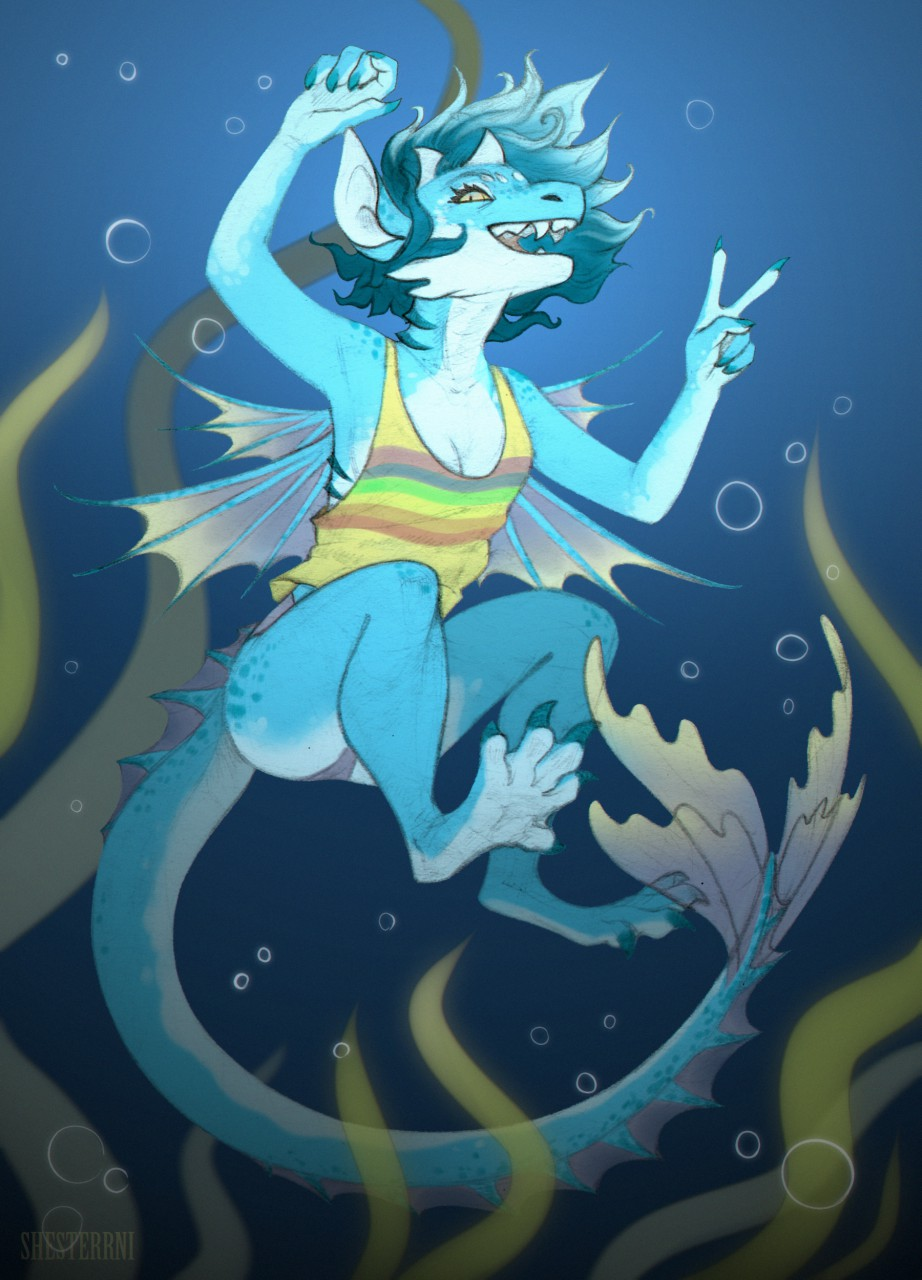 water dragon by shesterrni