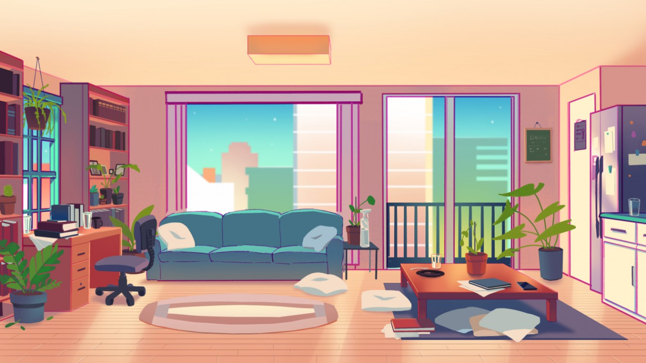 living room background for animation collab by Walrushit