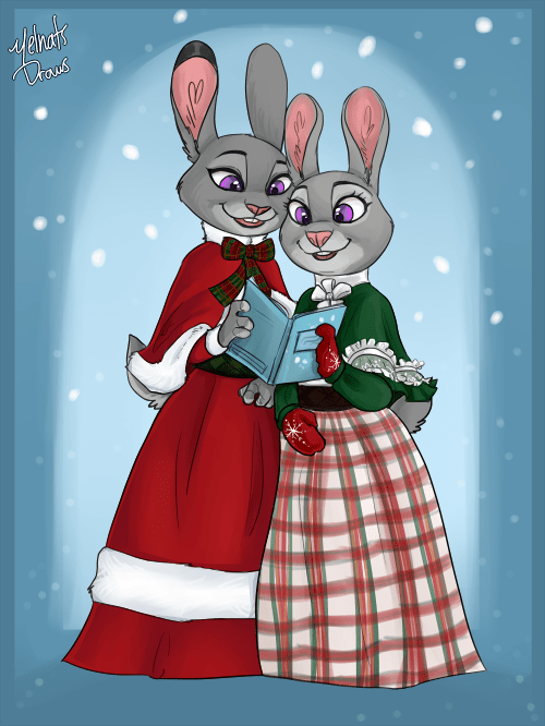 Here We Come a Caroling (Commission)