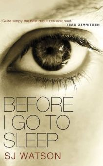 BOOK REVIEW: BEFORE I GO TO SLEEP BY SJ WATSON