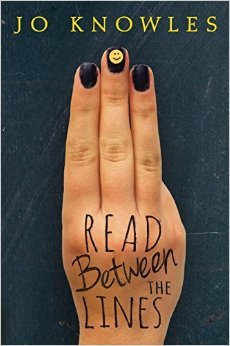 Book Cover Love: Jo Knowles' READ BETWEEN THE LINES - peoplewhowrite