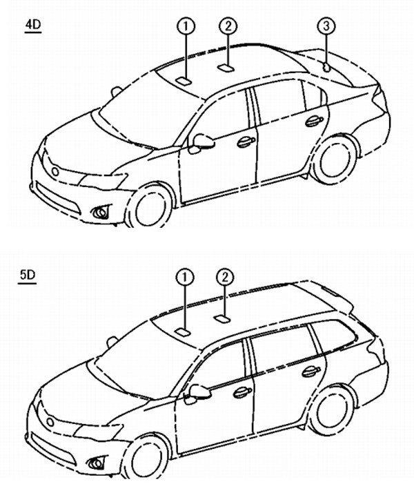 Toyota Corolla Wagon technical drawing foto galerisi resim 1