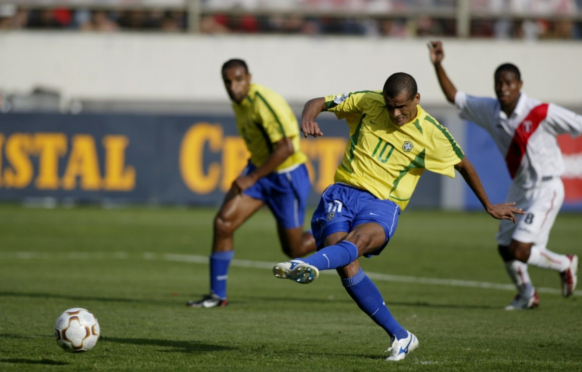Brazil Legend Rivaldo Plays Alongside Son in Stadium Named After ...